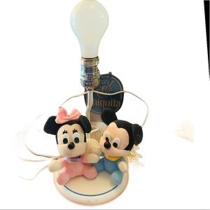 Vintage Dolly Mickey Minnie Mouse plush baby Lamp